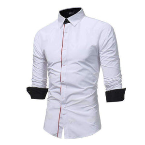 Mens Button Slim Long-Sleeve Shirt-[product_tag]-My MALL Metro
