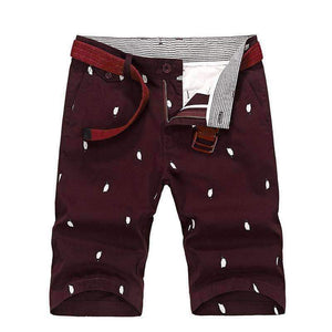Summer New Fashion Print Pantalones Cortos De Los Hombres Good Quality Four Colors Cotton Kurz Hose Man