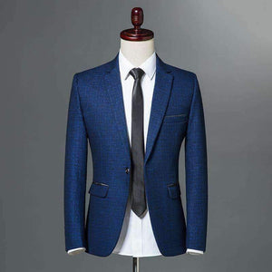 Mens Blazer Single Button Slim Fit Jacket-[product_tag]-My MALL Metro