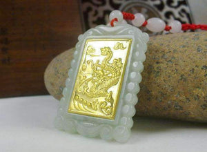 Gold Jade Square Dragon Pendant Necklace-[product_tag]-My MALL Metro
