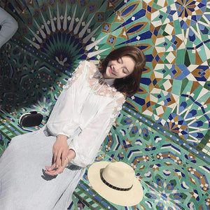 Long Cardigan Sunscreen Shirt Loose Coat Lace Chiffon Outwear Tops-[product_tag]-My MALL Metro