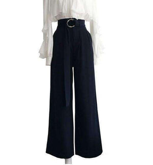 Womens Leg Spilt Womens Loose Wide-Leg Pants-[product_tag]-My MALL Metro