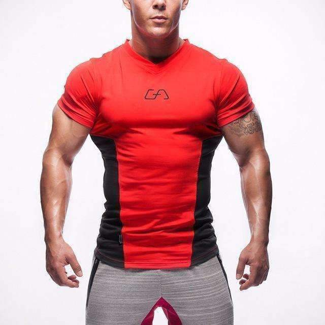 Selling T-Shirt Men Tights Fitness Quick Dry Casual Stretch Top Tee Shirt Mma Plus Size Hot