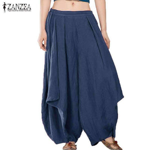 Womens Waist Loose Harem Wide-Leg Bloomers Pants-[product_tag]-My MALL Metro