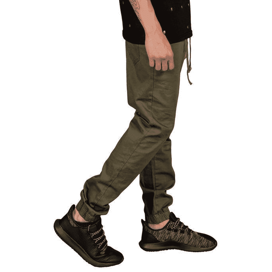 Rich V3 Twill Joggers (Olive)-[product_tag]-My MALL Metro