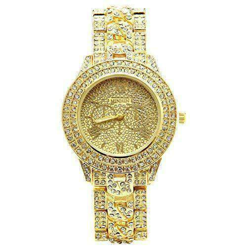 Studded Diamonds Alloy Geneva Watch Shiny Watches-[product_tag]-My MALL Metro