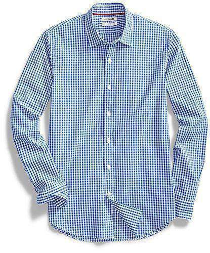Mens Long-Sleeve Gingham Shirts-[product_tag]-My MALL Metro