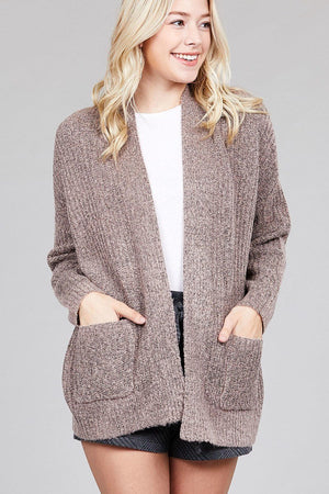 Ladies fashion dolmen sleeve open front surplice back construction sweater cardigan-[product_tag]-My MALL Metro