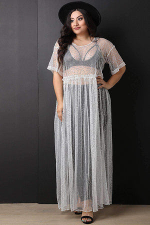 Sequins Semi-Sheer Tulle Maxi Dress-[product_tag]-My MALL Metro