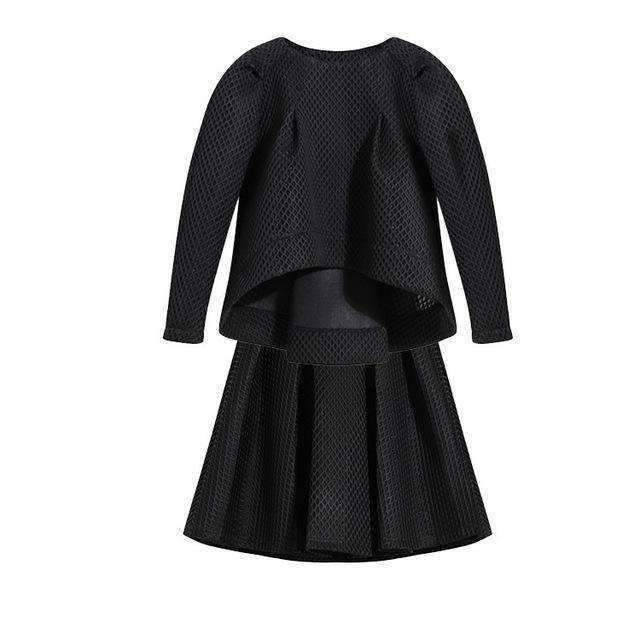 Loose Womens Suits Hollow-Out Top A-Line Skirt-[product_tag]-My MALL Metro