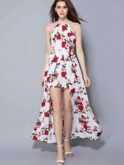 Backless Pleated Floral Women Maxi Dress-[product_tag]-My MALL Metro