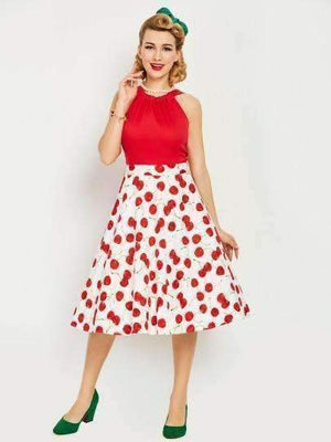 Backless Strappy Cherry Print Womens Day Dress-[product_tag]-My MALL Metro