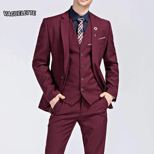 Suit Mens 3PieceSuit Formal Mens Slim Fit Suit With Pants-[product_tag]-My MALL Metro