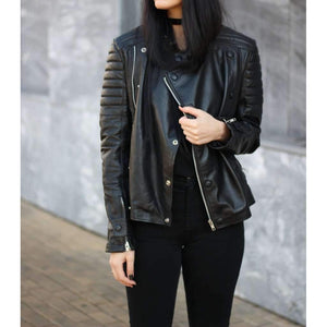 Women Brando Leather Jacket-[product_tag]-My MALL Metro