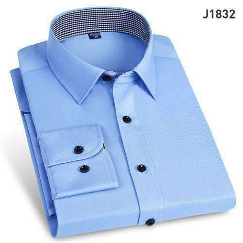 Mens Sleeve Solid Full Shirts-[product_tag]-My MALL Metro