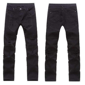 Mens Stretchy Ripped Skinny Biker Jeans-[product_tag]-My MALL Metro