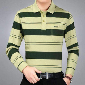 Mens Sleeve Turn-Down Collar Polo Shirts-[product_tag]-My MALL Metro