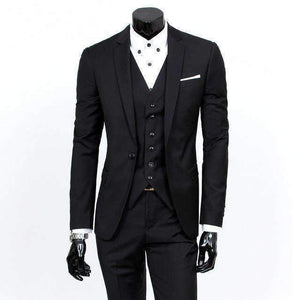 Mens Suit Single-Breasted V-Neck Turn-Down Collar Suit-[product_tag]-My MALL Metro