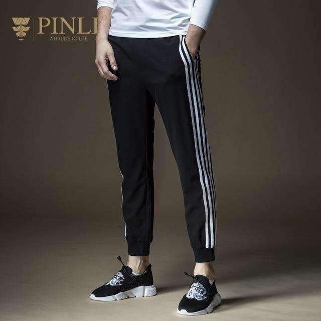 Slim Stripe Ankle Banded Pants Skinny Pants-[product_tag]-My MALL Metro