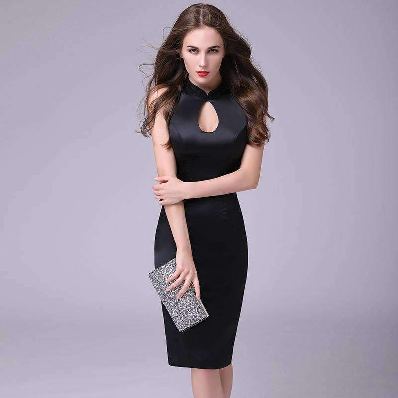 Womens Hollow Split Bodycon Womens Dress-[product_tag]-My MALL Metro