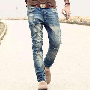 Mens Ripped-Hole Jeans-[product_tag]-My MALL Metro