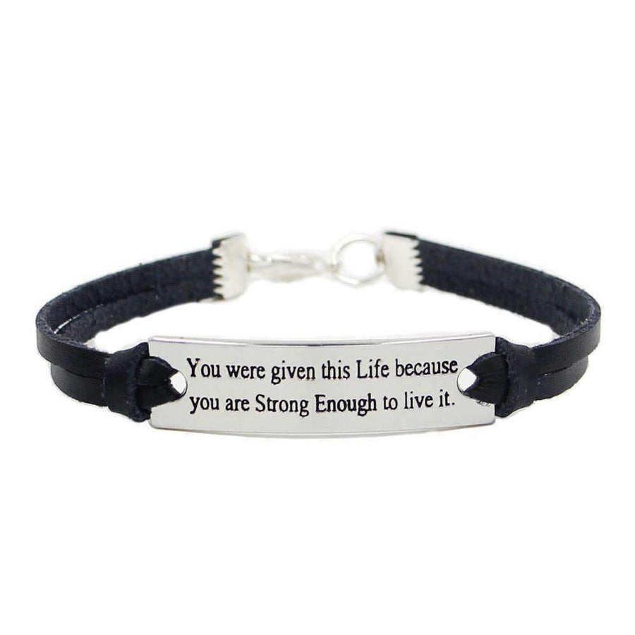 Leather Bracelet Inspirational CrossFit Sportswear Outdoor Hyper allergenic-[product_tag]-My MALL Metro