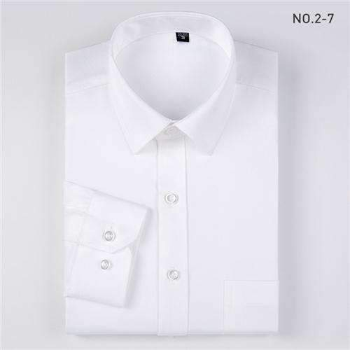 Mens Long-Sleeve Formal, Sleeve Solid Shirts-[product_tag]-My MALL Metro