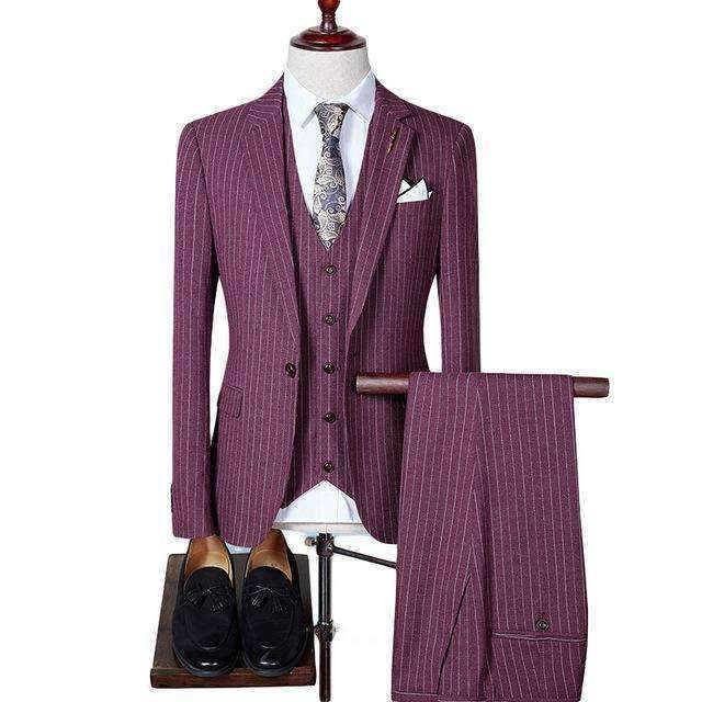 Mens Striped Suit-[product_tag]-My MALL Metro