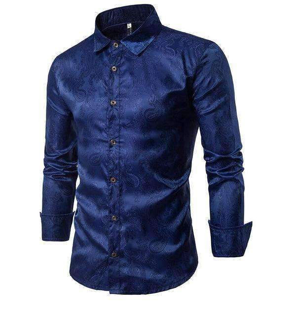 Mens Shirts Embroidery Pattern Long-Sleeved Shirt-[product_tag]-My MALL Metro