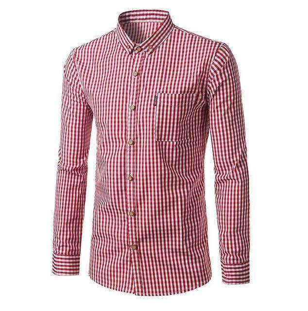 Mens Plaid Striped Shirt-[product_tag]-My MALL Metro