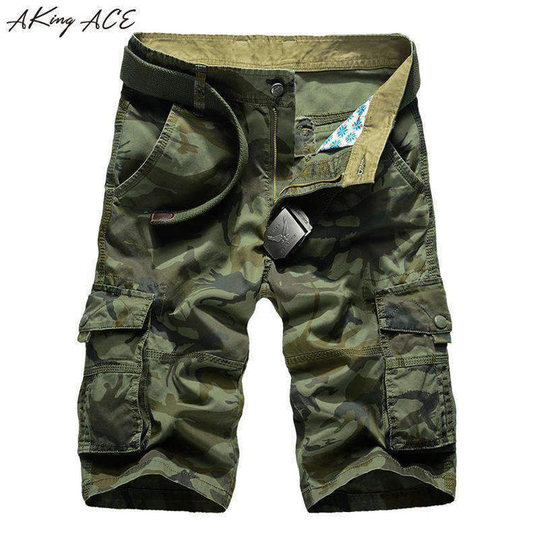 AKing ACE Millitary Army Camouflage Shorts Men Militar Camo Short Pants Men Cargo Shorts for Male Plus Size 42 44 , ZA292,,[shop name]