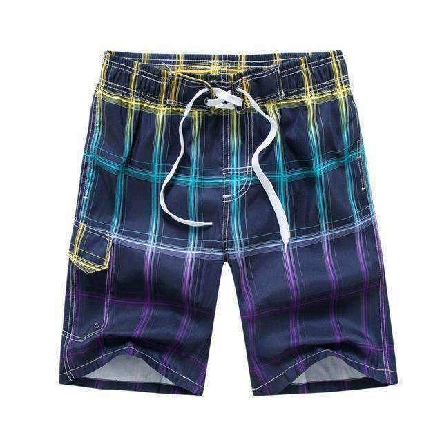 Board Shorts Men Trunks Plaid Joggers Sweat Swimsuit Beach Boardshort Hawaii Plus Size Bermudas