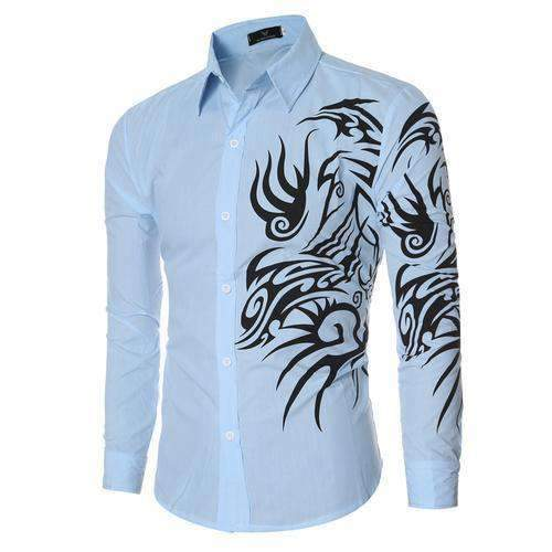 Mens Long-Sleeve Slim Fit Shirt-[product_tag]-My MALL Metro