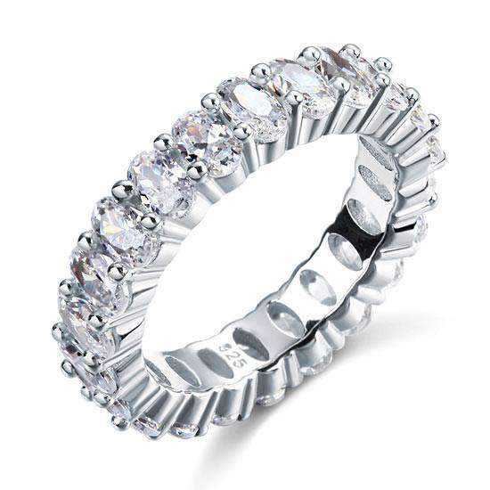 Oval Cut Eternity Sterling Silver 925-Silver 5 Ring-[product_tag]-My MALL Metro