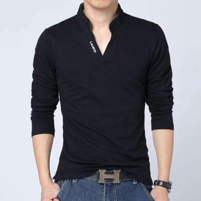 Mens V-Neck Slim Fit Long-Sleeve Shirts-[product_tag]-My MALL Metro