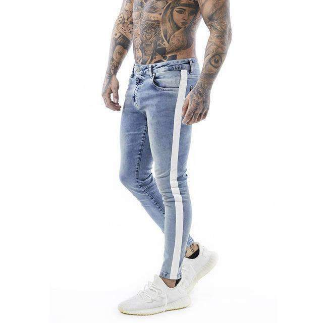 Mens Tape Distressed Stretch Online Skinny Ripped Slim Fit Jeans-[product_tag]-My MALL Metro
