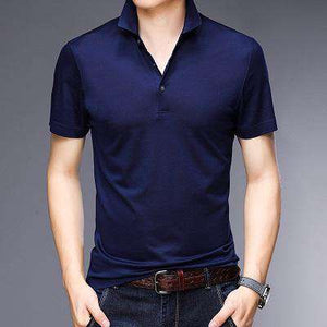 Mens Short-Sleeve Turn-down Collar Shirts-[product_tag]-My MALL Metro