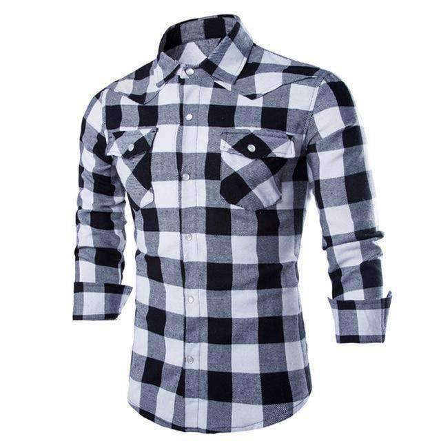 Mens Top Slim Long-Sleeve Formal Shirts-[product_tag]-My MALL Metro