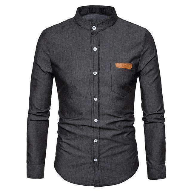Denim Mens Shirts-[product_tag]-My MALL Metro