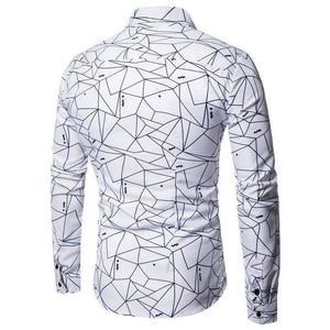 Geometry-Print Long-Sleeve Shirts-[product_tag]-My MALL Metro
