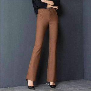 Plus-Size stretch straight Womens pants trousers-[product_tag]-My MALL Metro