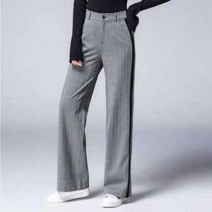 Womens Plus-Size Side Striped Long wide-leg Pants-[product_tag]-My MALL Metro