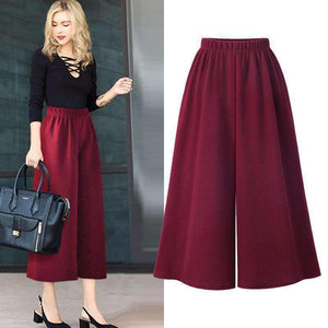 Womens Plus-Size wide-leg Ankle-length Cropped Pants-[product_tag]-My MALL Metro