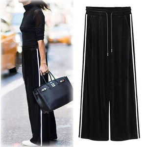 Womens Elastic-Waist Trouser Plus-Size Pants-[product_tag]-My MALL Metro