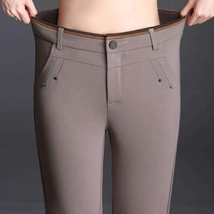 Womens Capris Button Fly Pants Plus-Size-[product_tag]-My MALL Metro