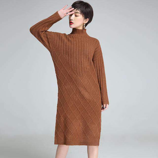 Womens turtleneck long cashmere sweaters Plus-Size-[product_tag]-My MALL Metro