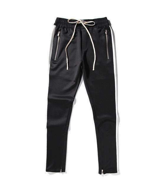 Mens Side Patch Side Zipper Streetwear Track Pants-[product_tag]-My MALL Metro