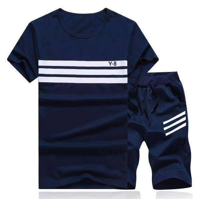 Sportsuits Men Polo Suits 2Pc Breathable Short Setmens Design T Shirt Shorts Tracksuit Set Trending Style
