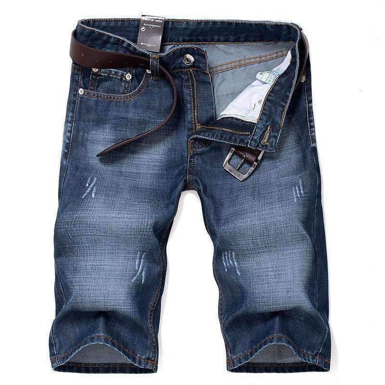 Summer New Fashion Cotton Jeans Men Large Size Comfortable Mens Shorts Pantalon Corto Hombre Casual Denim 40