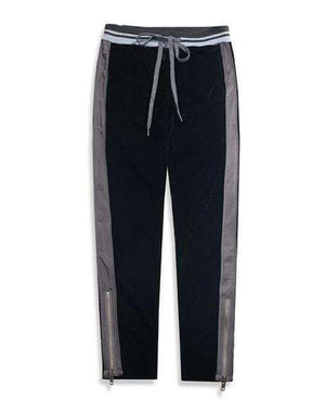 Mens Velour Side-Striped Sweatpants Ankle-Length Track pants-[product_tag]-My MALL Metro
